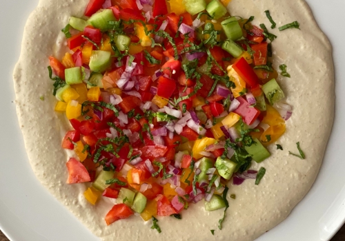 Hummus Tomato Salad