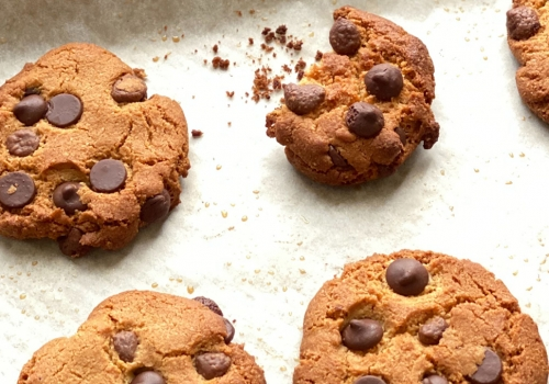 Gluten Free EVOO Chocolate Chip Cookies