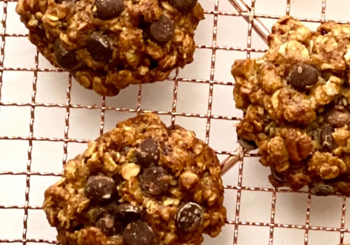 Banana Rolled Oat Cookies