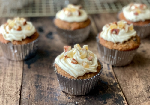 Winter Spice Parsnip EVOO Cupcakes