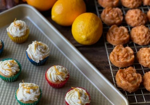 Honey Lemon Ricotta EVOO Teacakes