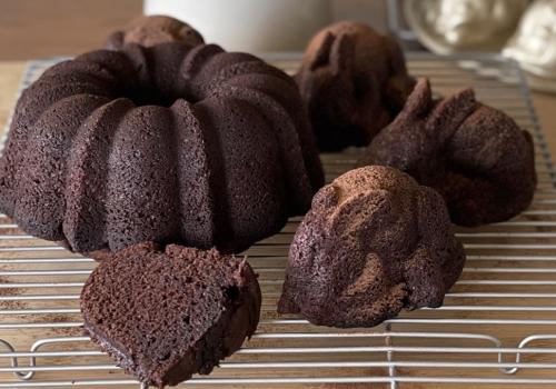 Dark Chocolate EVOO Zucchini Cakelet