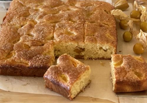 Cape Gooseberry EVOO Cake