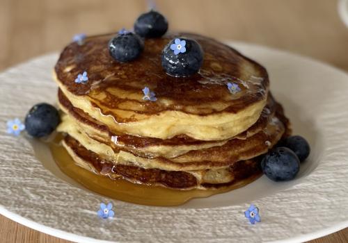 Lemon Ricotta EVOO Pancakes